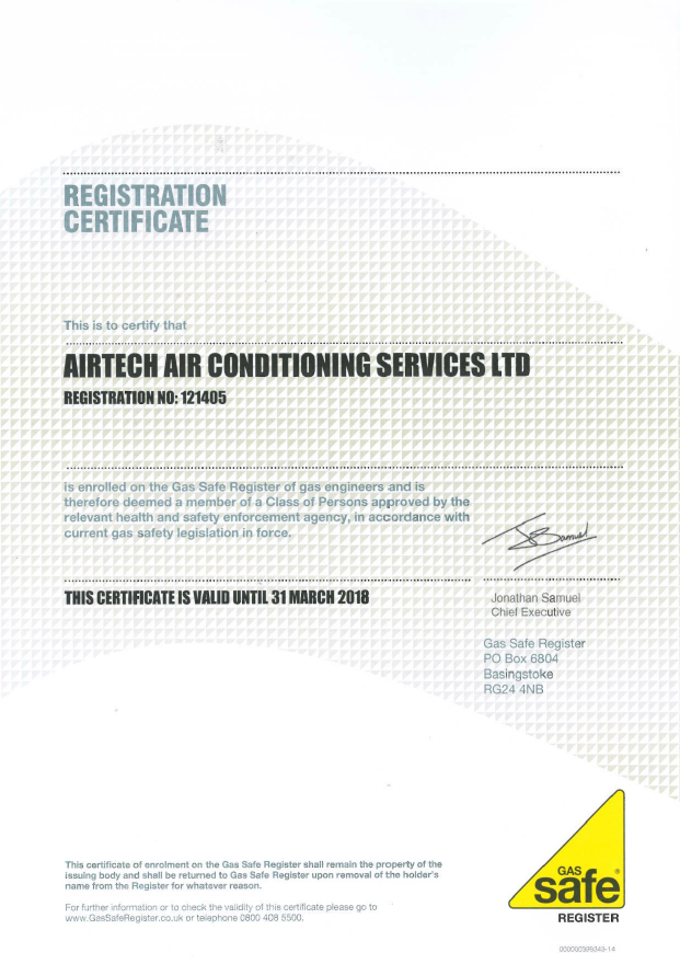 Gas safe ACS cert