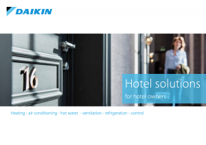 Hotel Solutions brochure by Daikin