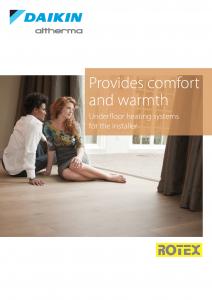 Airtech Daikin Rotex Under Floor Heating Brochure Thumb