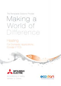 Airtech Mitsubishi Electric Heating Brochure