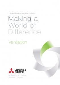 Airtech Mitsubishi Electric Ventilation brochure Thumb
